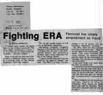 Newspaper Clippings: Fighting ERA: Feminist Foe Labels Amendment As Fraud