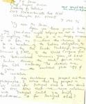 Usha Mahajani Letter #2, page 1