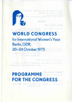 International Women's Year Berlin Conference Programme, page 1