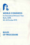 International Women's Year World Congress Rules, page 1
