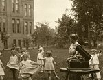 Clara Meisner with children at Washington State Normal School by Central Washington University