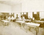Washington State Normal School, clay modeling class by Central Washington University