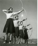 Washington State Normal School, women's archery by Central Washington University